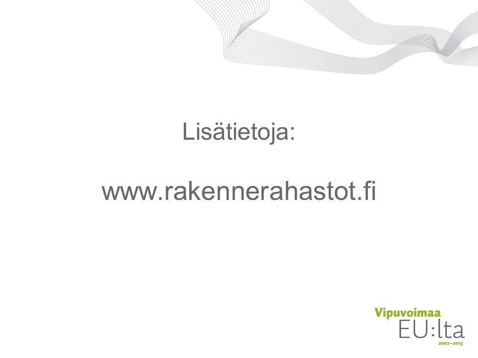 Lisätietoja: www.rakennerahastot.fi