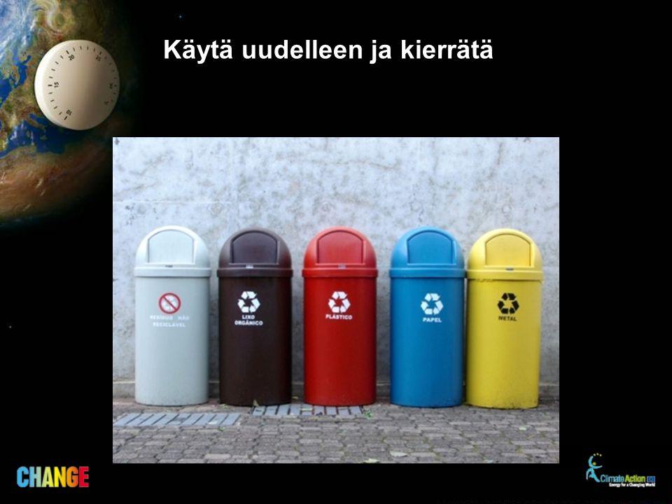 Käytä uudelleen ja kierrätä