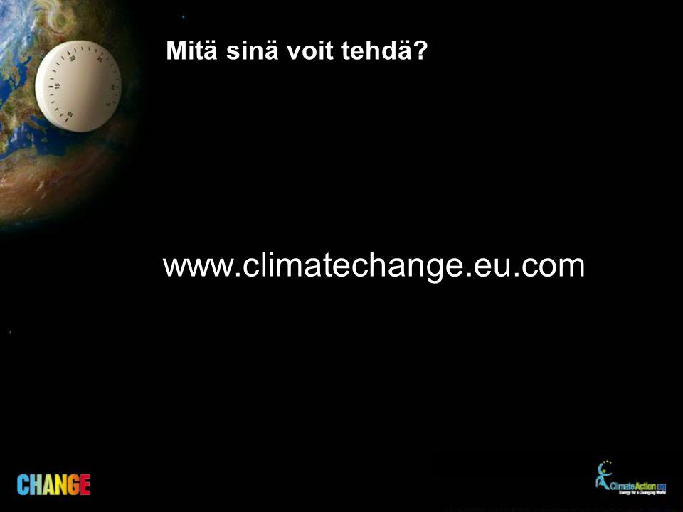 Mitä sinä voit tehdä? www.climatechange.eu.com