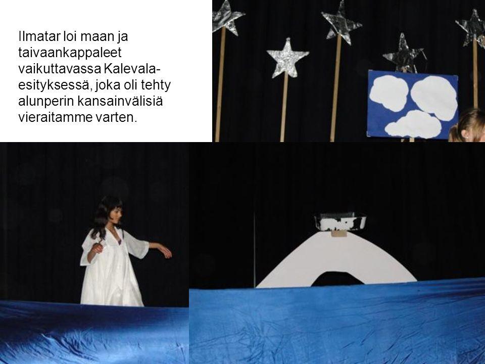 Ilmatar loi maan ja taivaankappaleet vaikuttavassa Kalevala- esityksessä, joka oli tehty alunperin kansainvälisiä vieraitamme varten.
