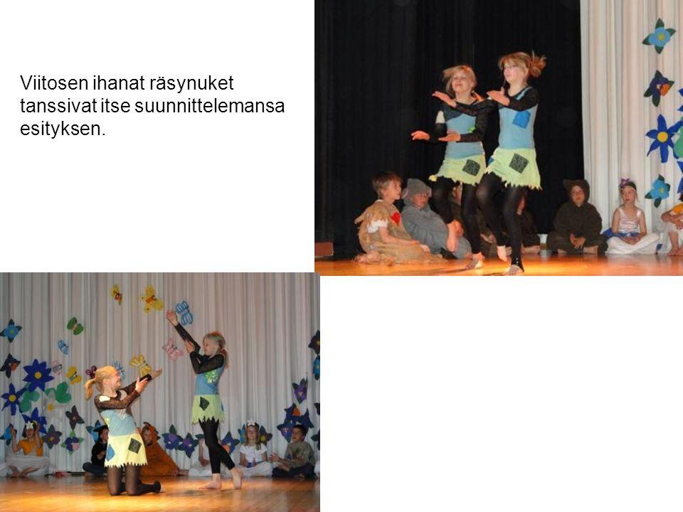 Viitosen ihanat räsynuket tanssivat itse suunnittelemansa esityksen.