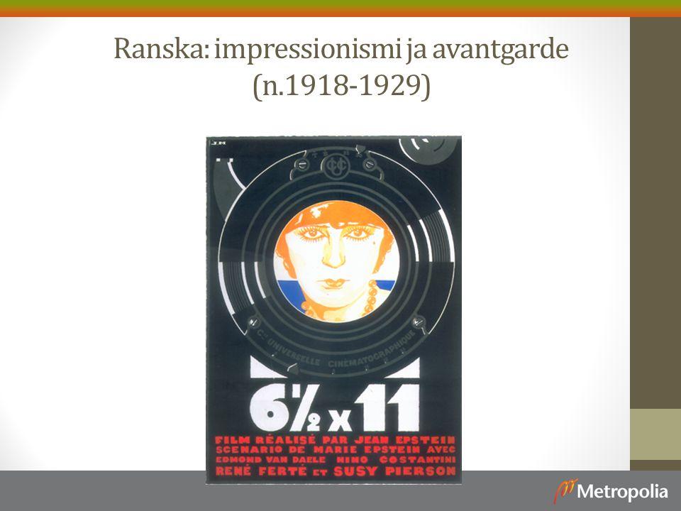 Ranska: impressionismi ja avantgarde (n.1918-1929)