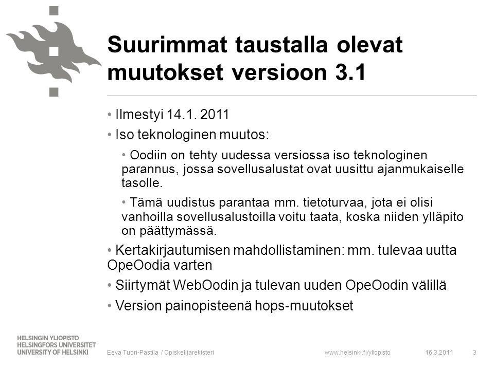www.helsinki.fi/yliopisto Ilmestyi 14.1.