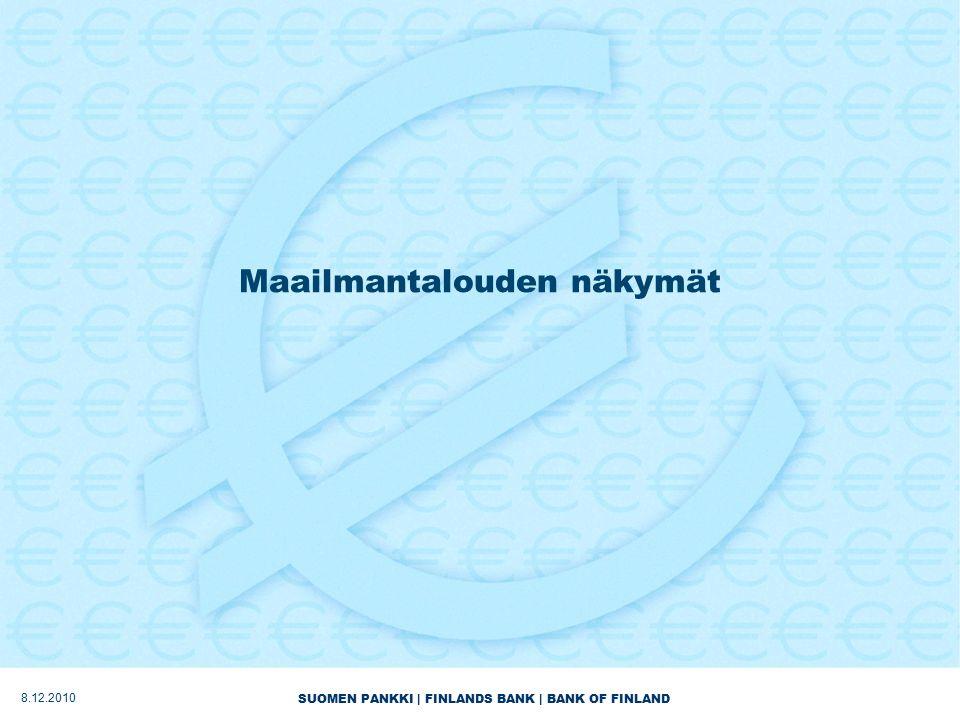 SUOMEN PANKKI | FINLANDS BANK | BANK OF FINLAND Maailmantalouden näkymät 8.12.2010