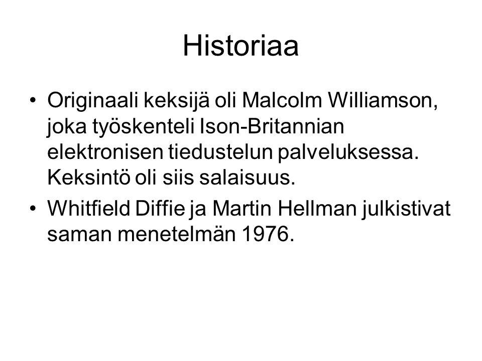 Historiaa Originaali keksijä oli Malcolm Williamson, joka työskenteli Ison-Britannian elektronisen tiedustelun palveluksessa.