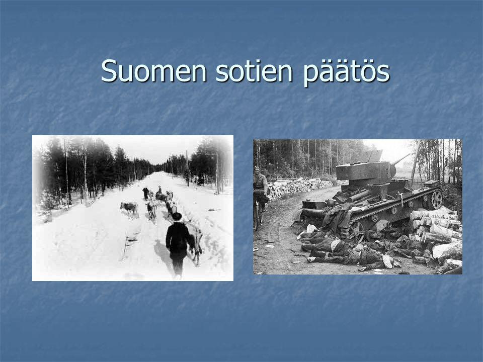 Suomen sotien päätös