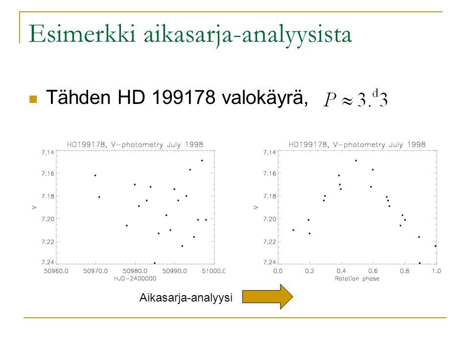 Esimerkki aikasarja-analyysista Tähden HD 199178 valokäyrä, Aikasarja-analyysi