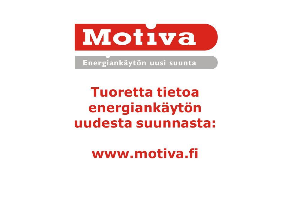 Tuoretta tietoa energiankäytön uudesta suunnasta: www.motiva.fi