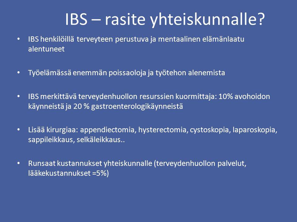 IBS – rasite yhteiskunnalle.