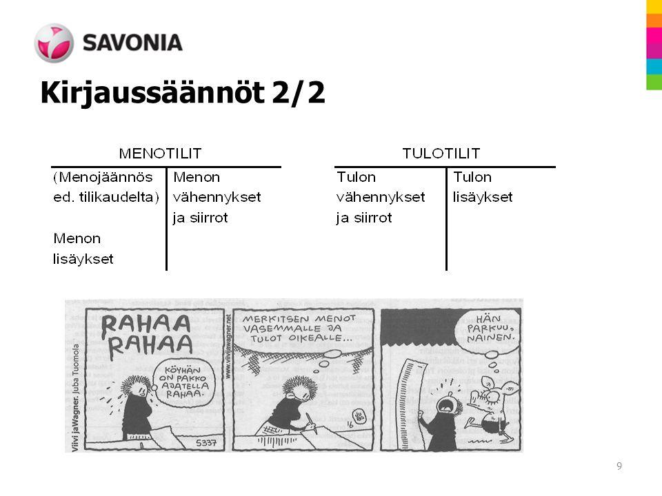 Kirjaussäännöt 2/2 9