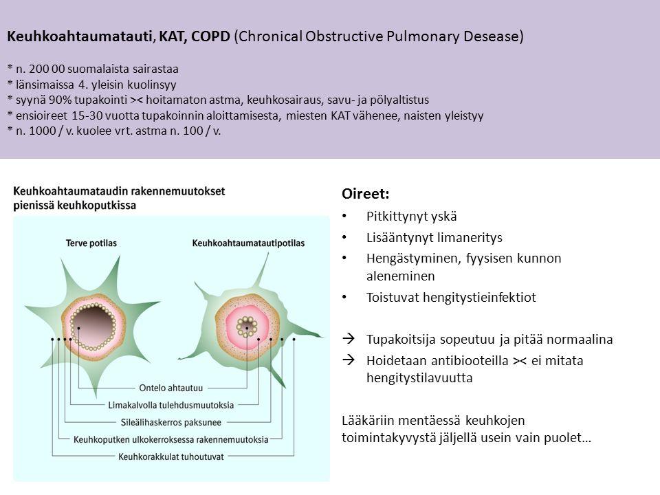 Keuhkoahtaumatauti, KAT, COPD (Chronical Obstructive Pulmonary Desease) * n.