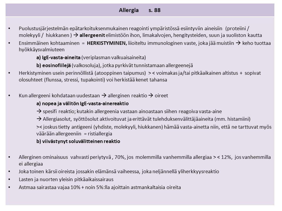 Allergia s.