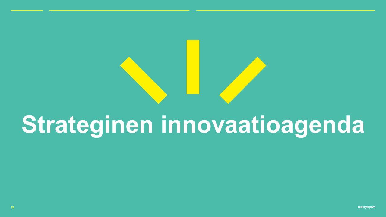 Oulun yliopisto Strateginen innovaatioagenda 13