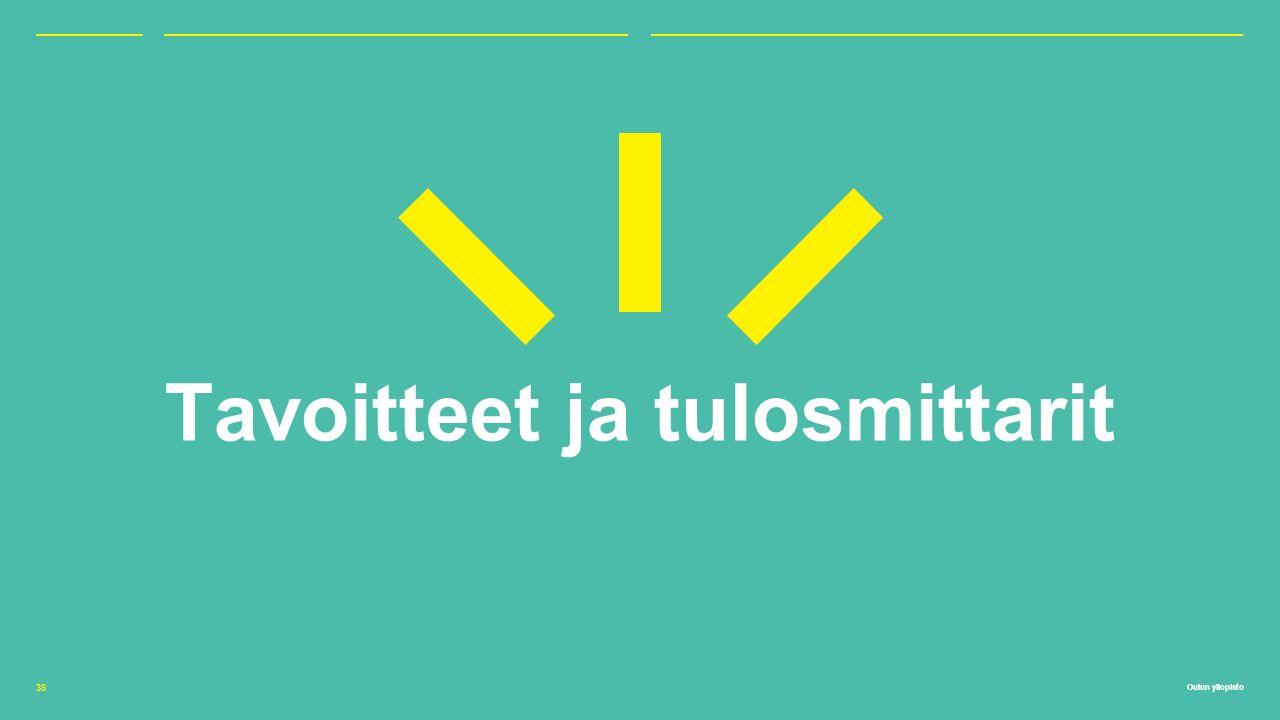 Oulun yliopisto Tavoitteet ja tulosmittarit 38