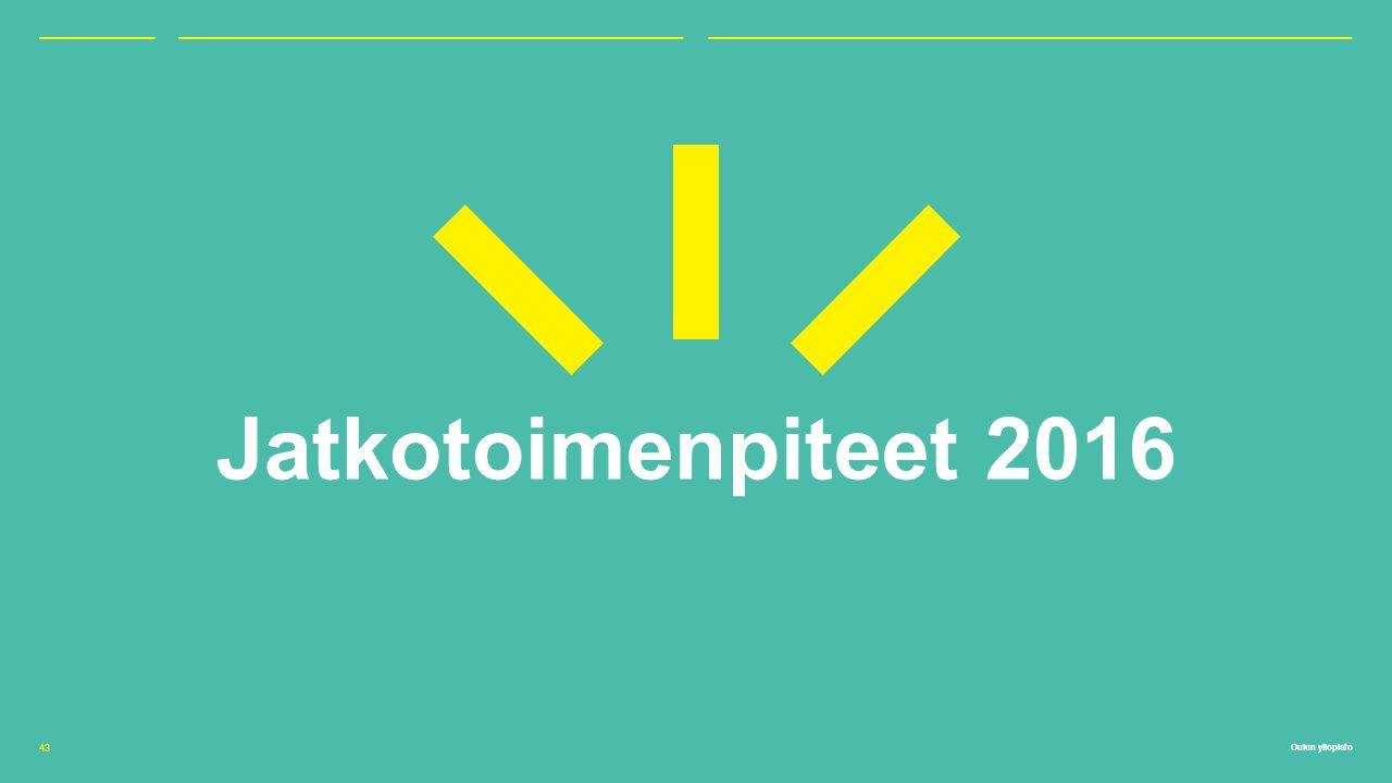 Oulun yliopisto Jatkotoimenpiteet 2016 43