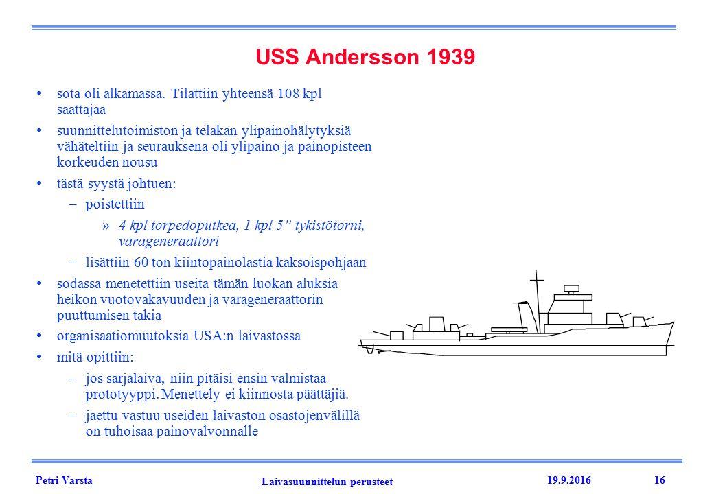 Petri Varsta Laivasuunnittelun perusteet 19.9.201616 sota oli alkamassa.
