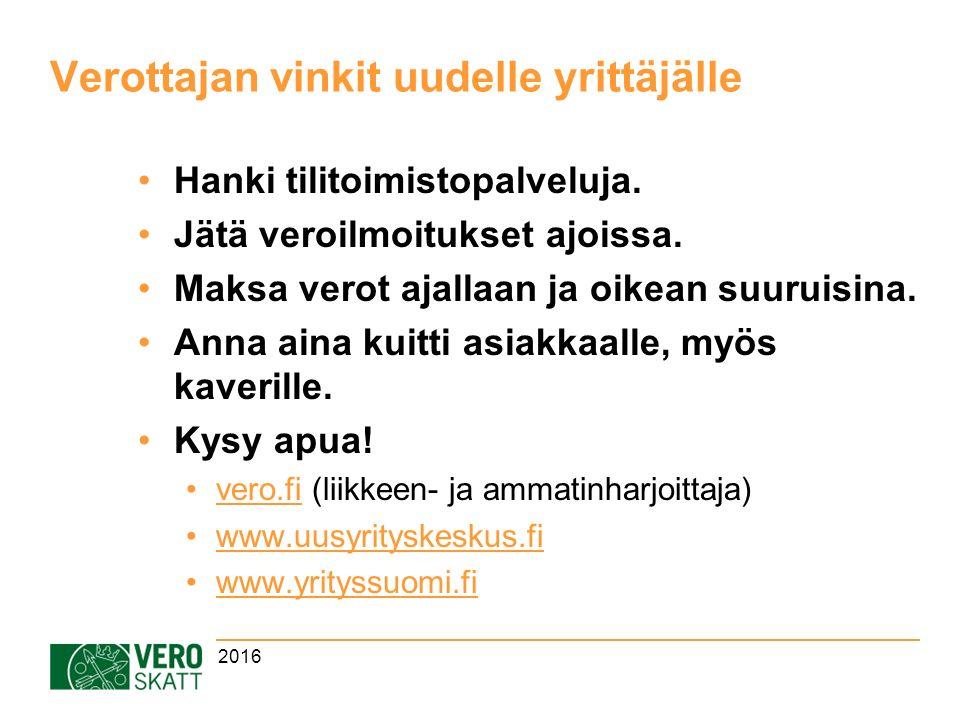 Verottajan vinkit uudelle yrittäjälle Hanki tilitoimistopalveluja.