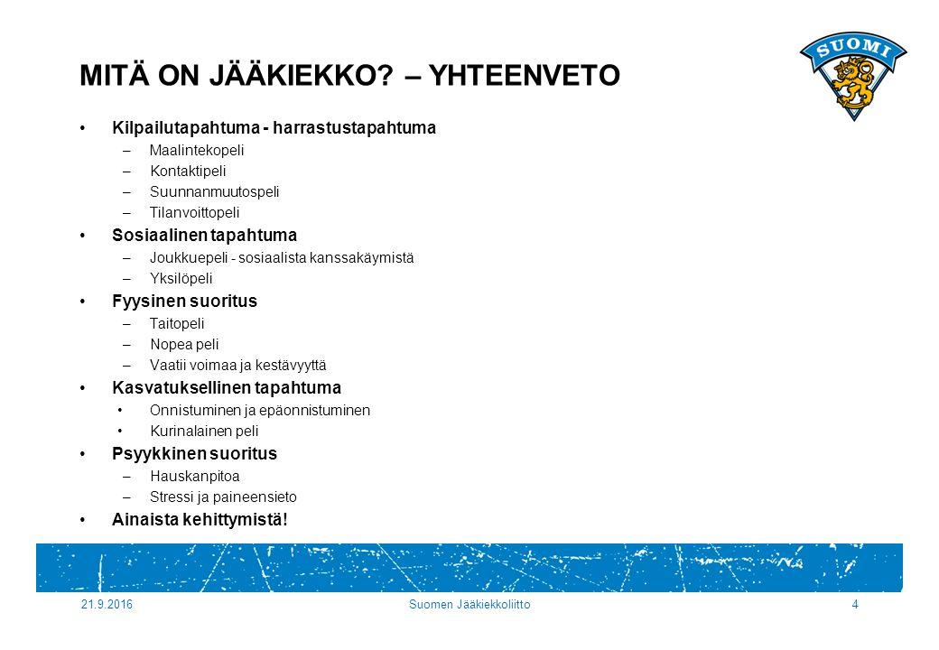 MITÄ ON JÄÄKIEKKO.