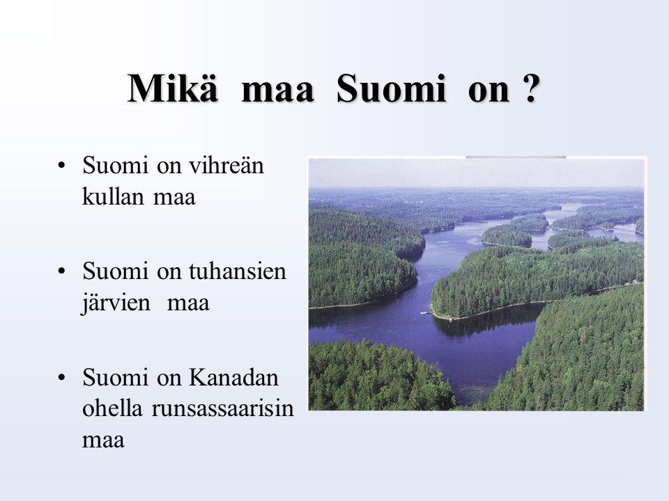 Luonto tarjoaa tunnusmerkkejä Laulujoutsen on Suomen kansallislintu