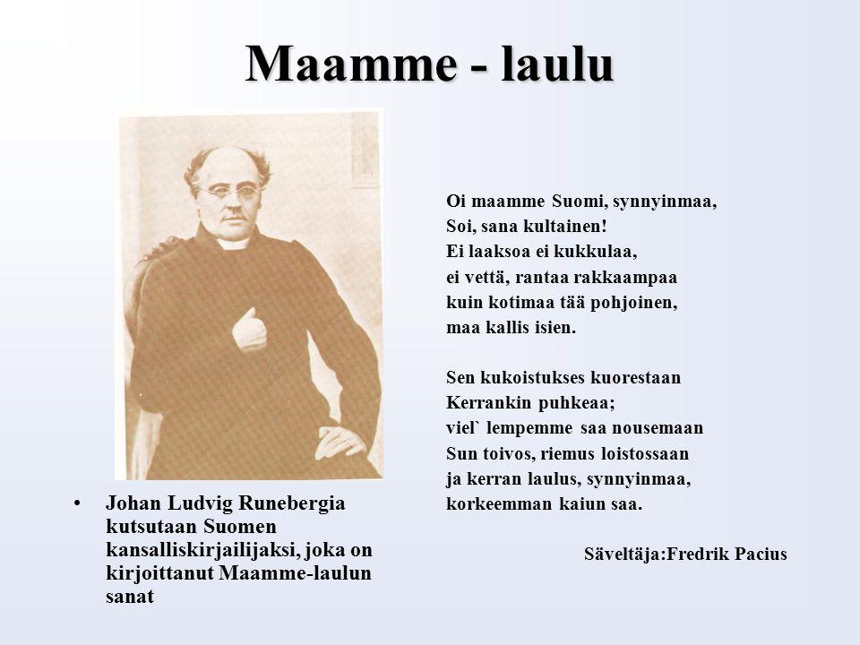 Suomen kansalliseepos on KALEVALA Kalevalan ensimmäinen painos ilmestyi v.