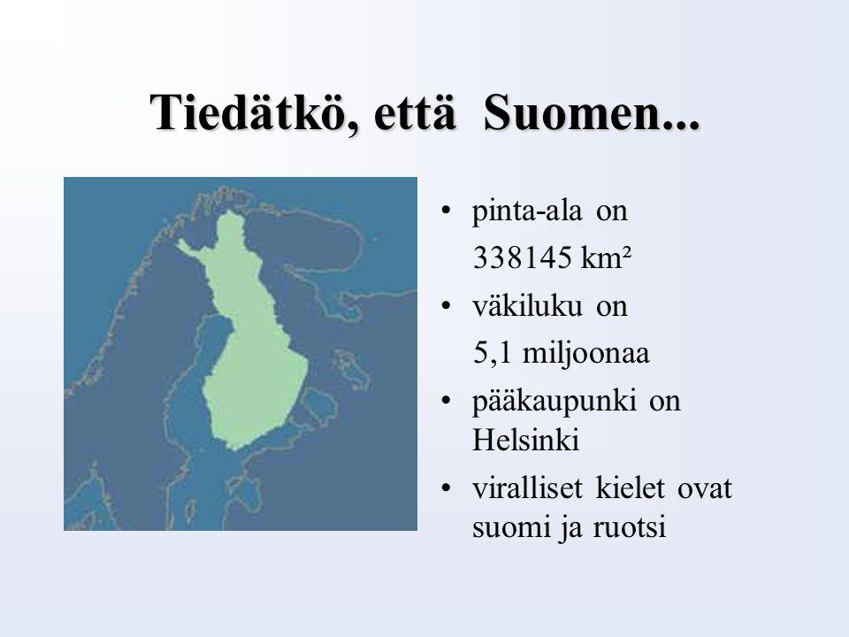 Yleistietoja Suomesta Soome keele õppematerjal Ebe Talpsepp Loo Keskkool Harjumaa Juhendaja: Külli Kaasik