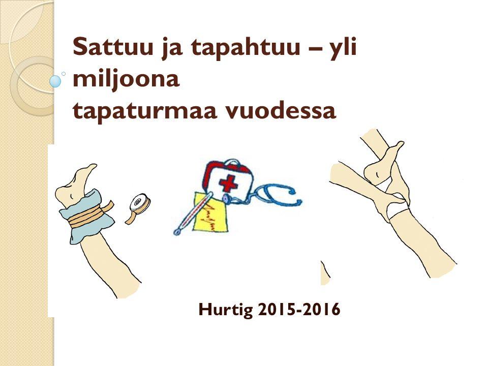 Sattuu ja tapahtuu – yli miljoona tapaturmaa vuodessa Hurtig 2015-2016