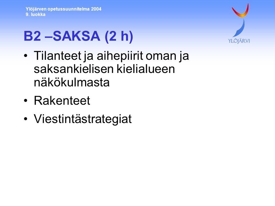Ylöjärven opetussuunnitelma 2004 9.