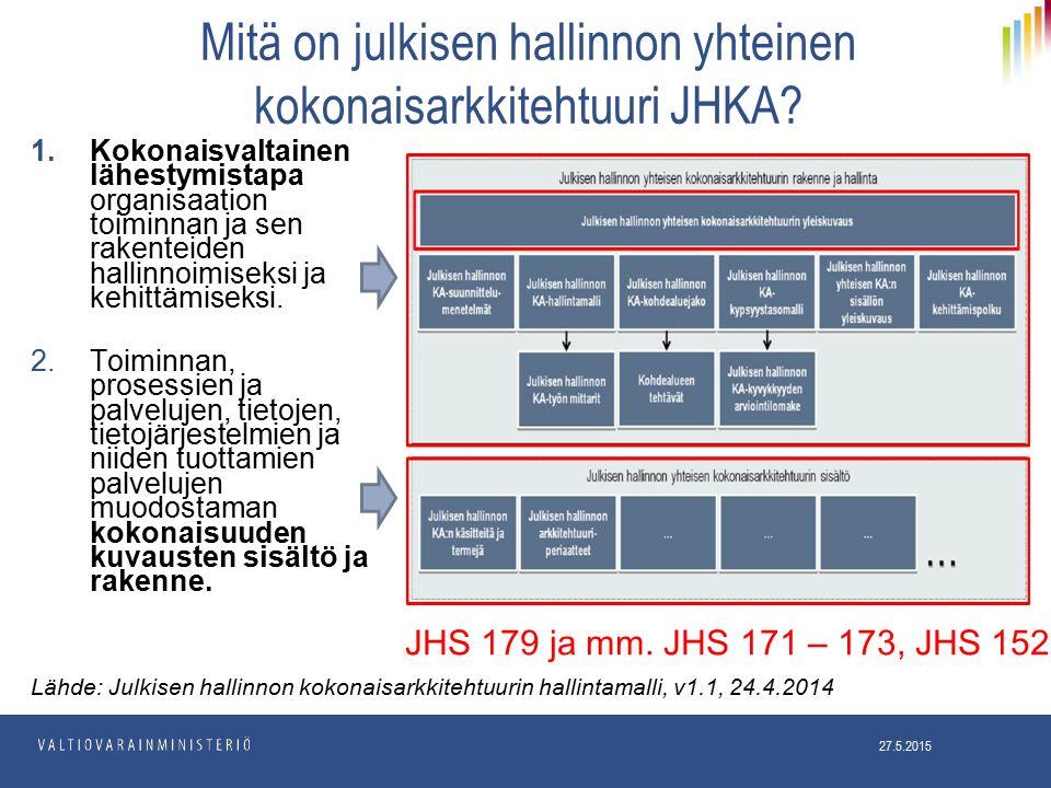 Mitä on julkisen hallinnon yhteinen kokonaisarkkitehtuuri JHKA.