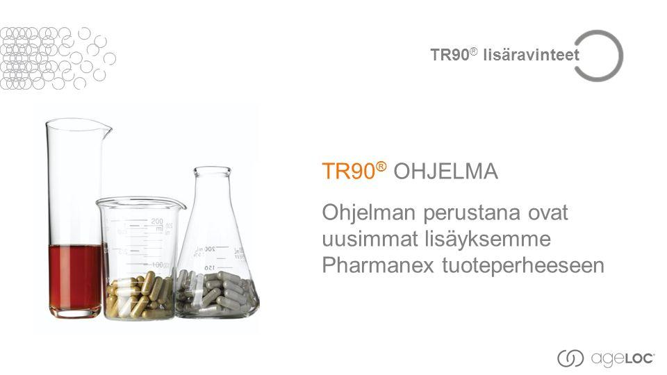 TR90 ® OHJELMA Ohjelman perustana ovat uusimmat lisäyksemme Pharmanex tuoteperheeseen TR90 ® lisäravinteet
