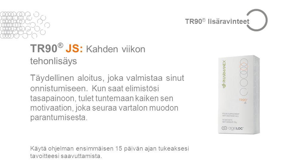 TR90 ® JS: Kahden viikon tehonlisäys Täydellinen aloitus, joka valmistaa sinut onnistumiseen.