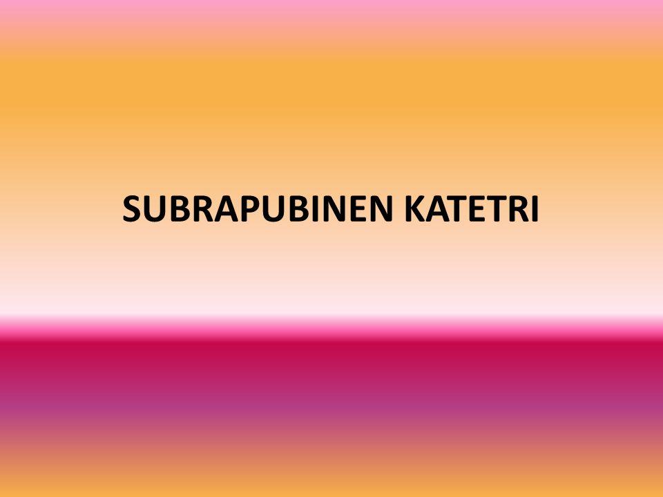 SUBRAPUBINEN KATETRI