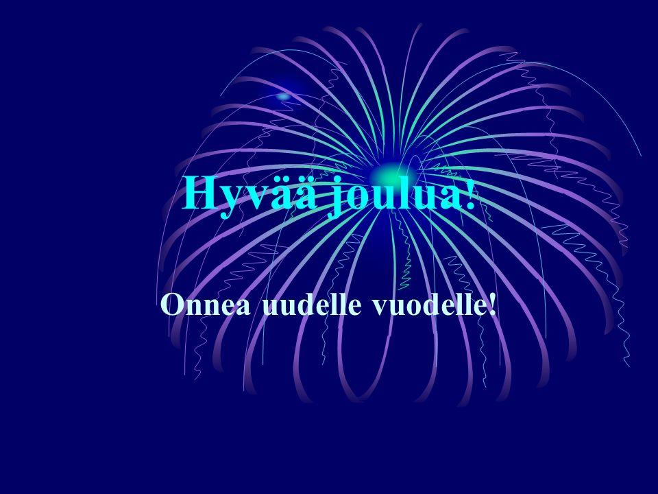 Hyvää joulua ! Onnea uudelle vuodelle!