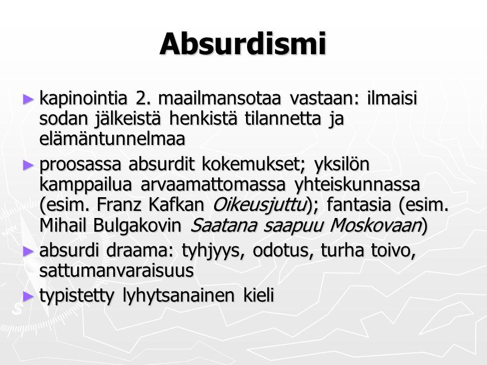 Absurdismi ► kapinointia 2.