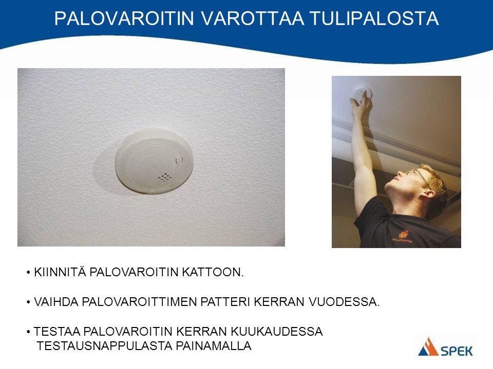 PALOVAROITIN VAROTTAA TULIPALOSTA KIINNITÄ PALOVAROITIN KATTOON.
