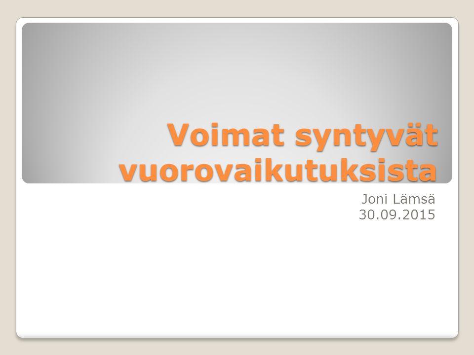 Voimat syntyvät vuorovaikutuksista Joni Lämsä 30.09.2015