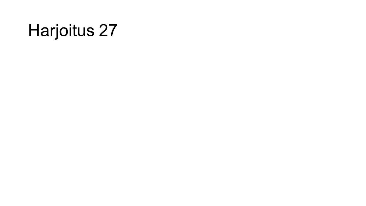 Harjoitus 27
