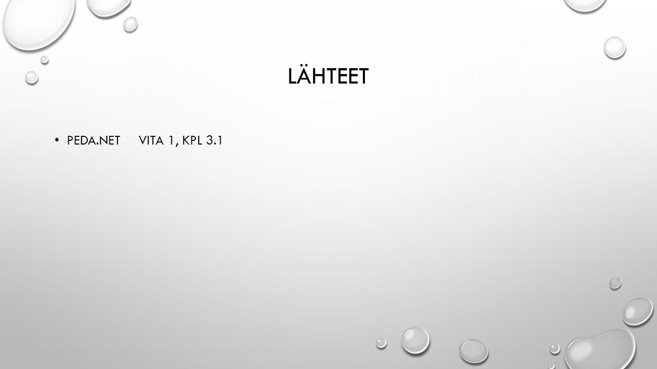 LÄHTEET PEDA.NET VITA 1, KPL 3.1