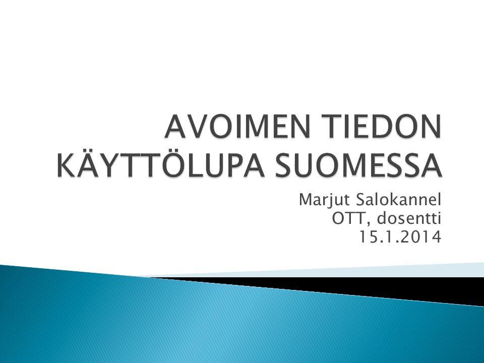 Marjut Salokannel OTT, dosentti 15.1.2014