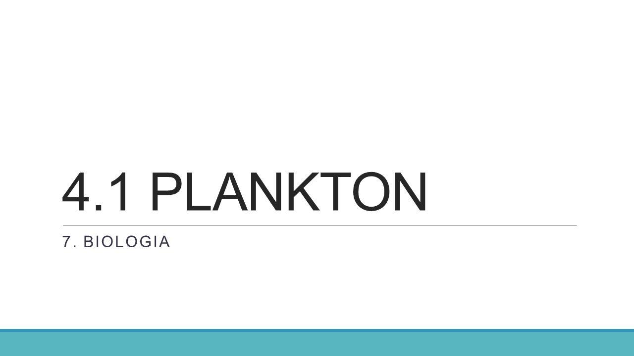 4.1 PLANKTON 7. BIOLOGIA
