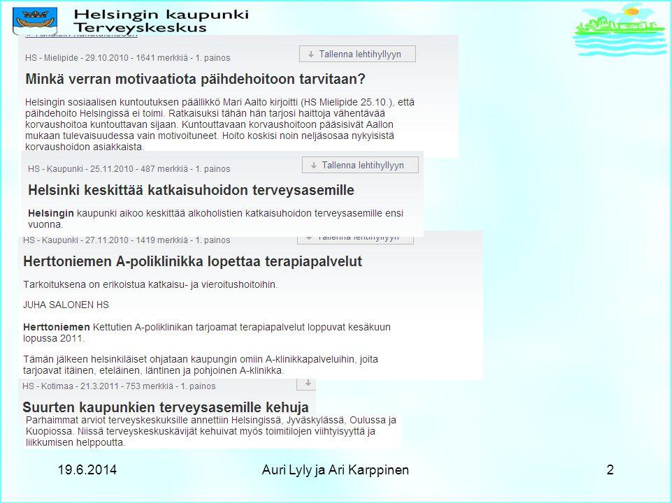 19.6.2014Auri Lyly ja Ari Karppinen2