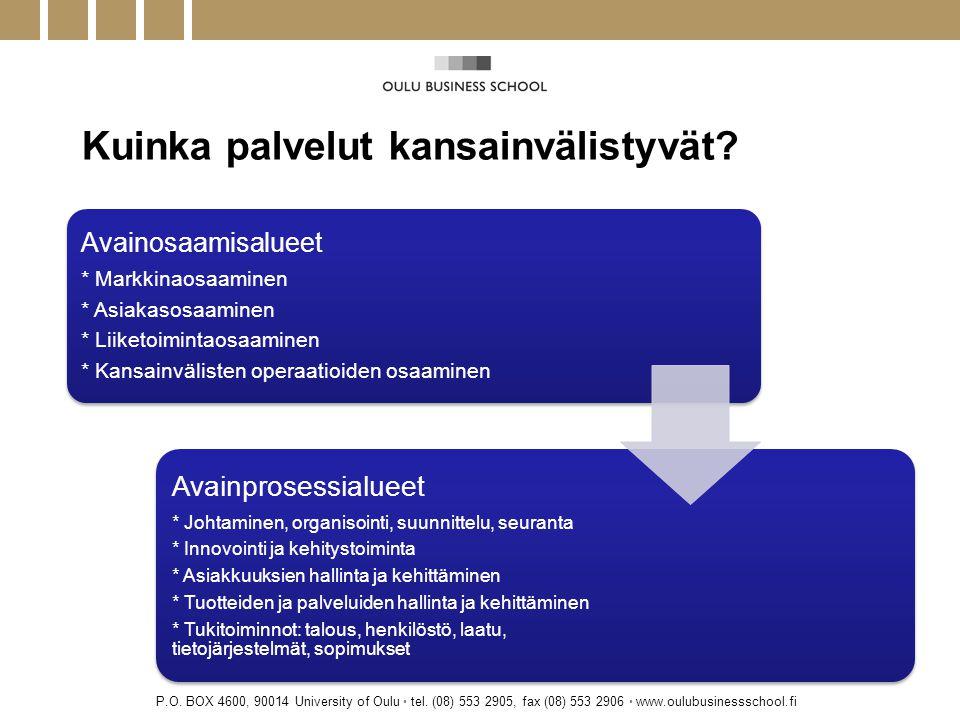 Kuinka palvelut kansainvälistyvät. P.O. BOX 4600, 90014 University of Oulu • tel.