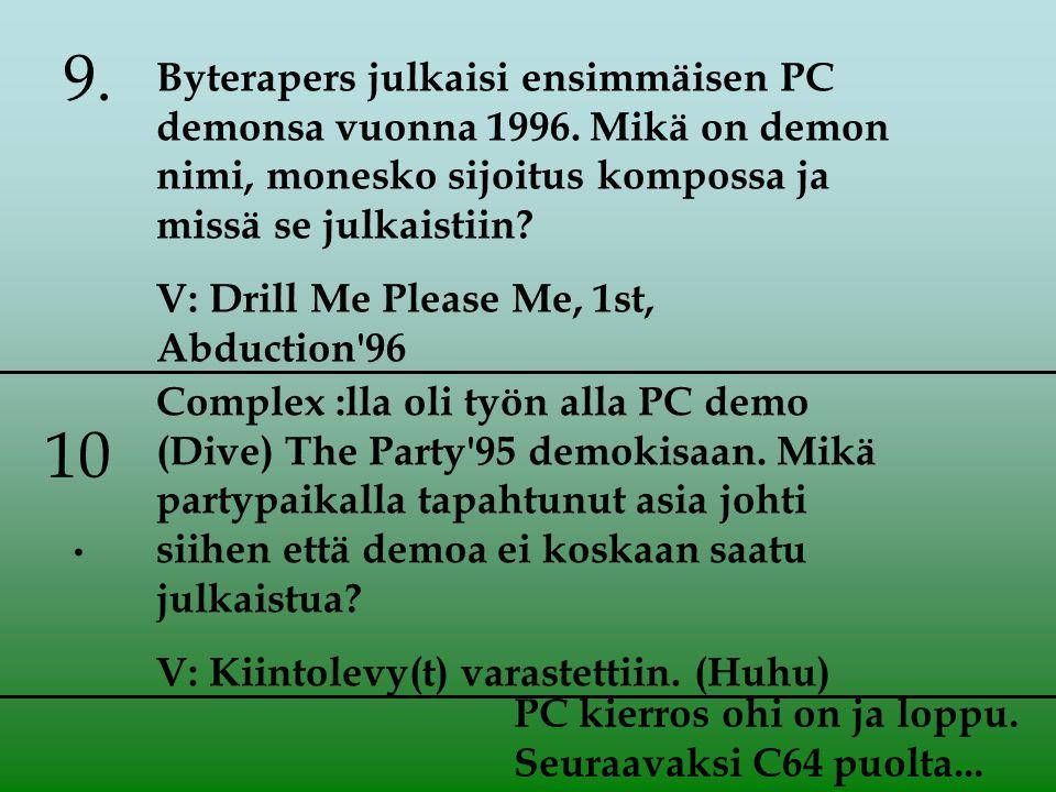 Byterapers julkaisi ensimmäisen PC demonsa vuonna 1996.
