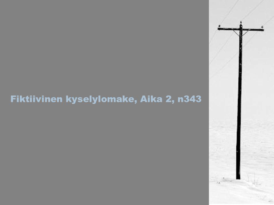 Fiktiivinen kyselylomake, Aika 2, n343