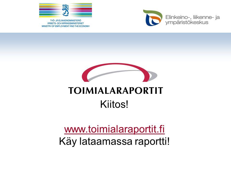 Kiitos! www.toimialaraportit.fi Käy lataamassa raportti! www.toimialaraportit.fi
