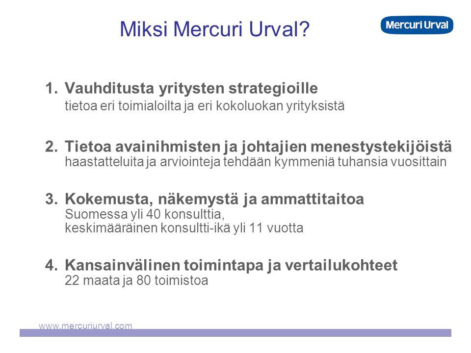 www.mercuriurval.com Miksi Mercuri Urval.