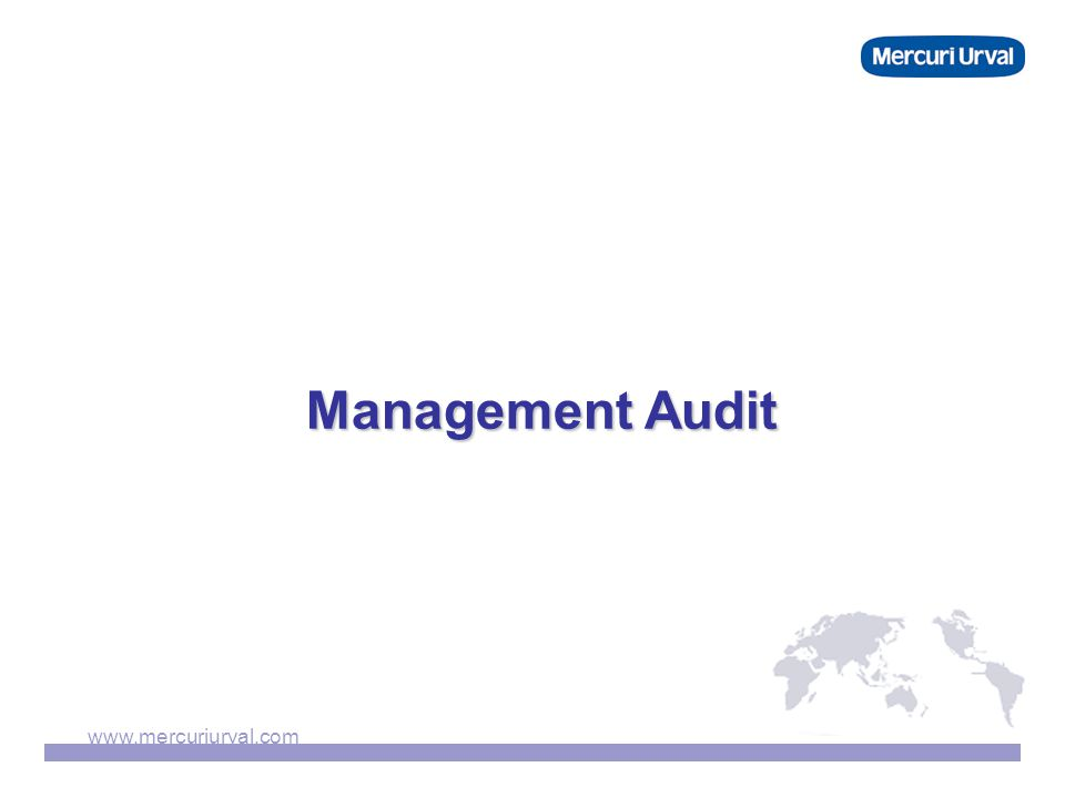 www.mercuriurval.com Management Audit