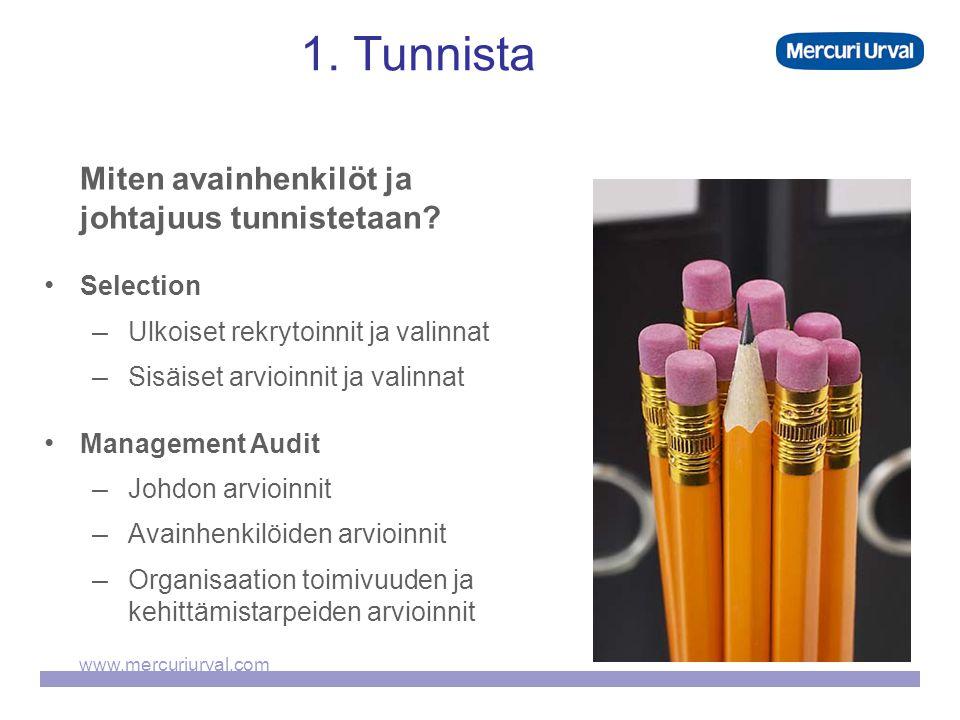 www.mercuriurval.com 1. Tunnista Miten avainhenkilöt ja johtajuus tunnistetaan.