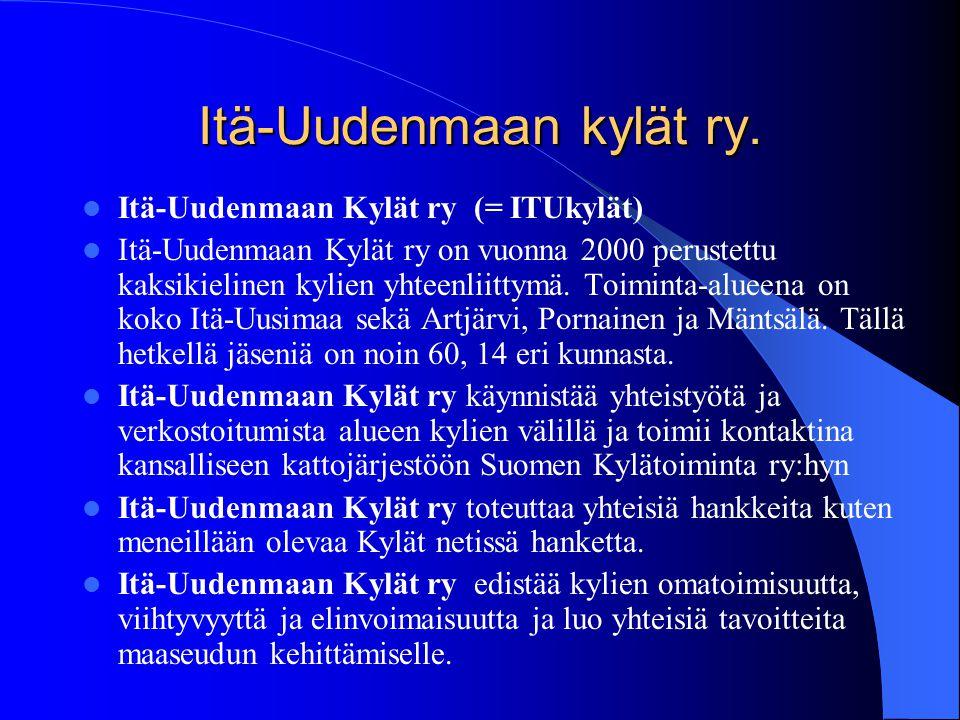 ITÄ-UUSIMAA www.ita-uudenmaankylat.fi www.itukylat.fi