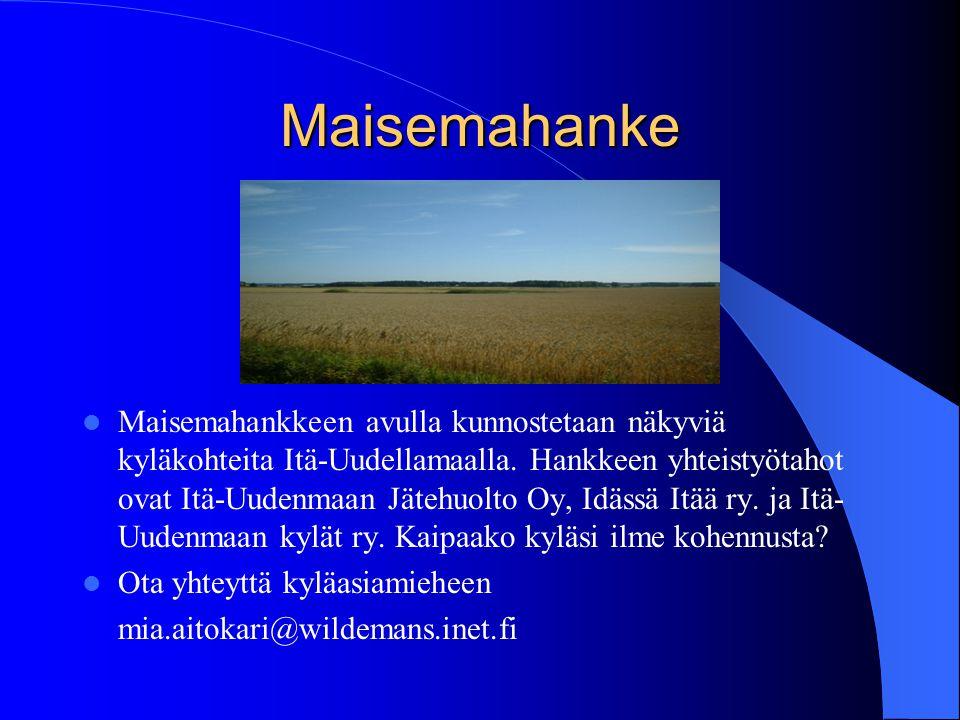 Kylät Nettiin - hanke Hanke jatkuu 31.12.2006 asti IDEA:  Kehittää kyläportaalia palvelevammaksi työkaluksi kylille, asukkaille, lomailijoille,ohikulkijoille ja muuten vain kiinnostuneille...