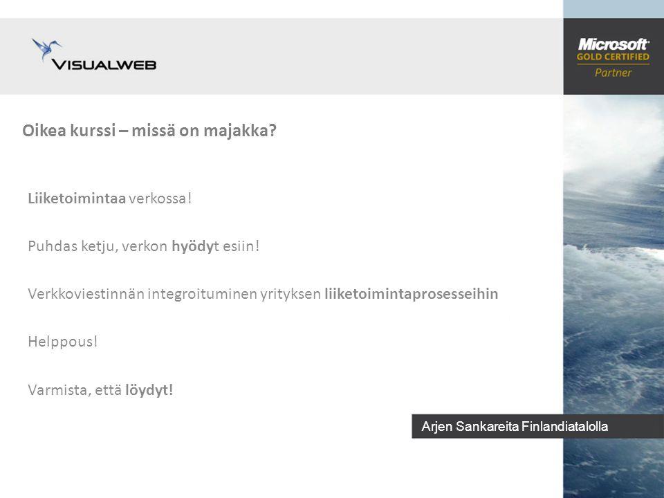 Arjen Sankareita Finlandiatalolla Oikea kurssi – missä on majakka.